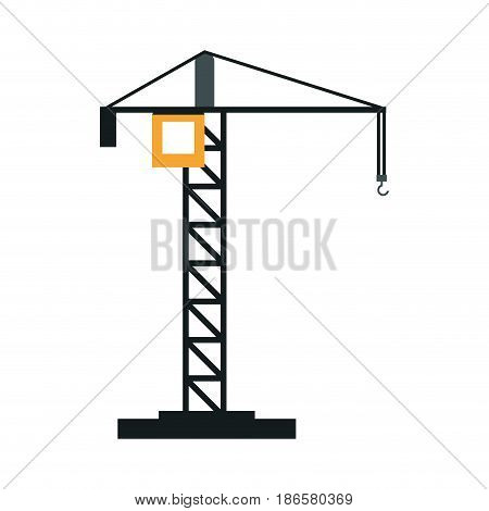 construction crane icon image vector illustration design