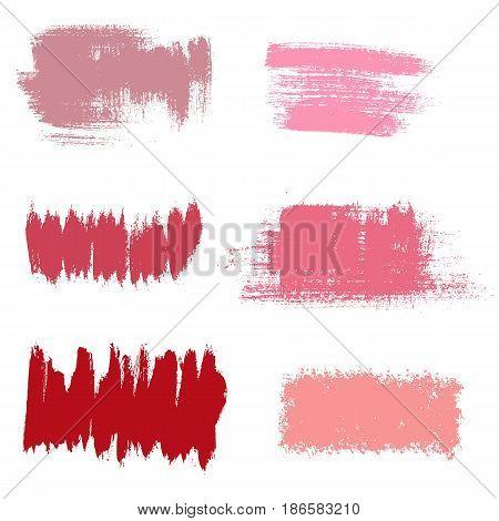 Vector grunge background elements. Textured hand drawn brushstrokes.