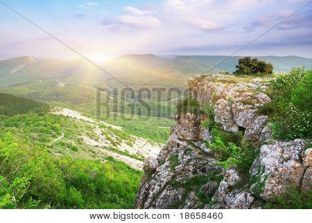 Beautiful mountain landscape. Composition of nature.