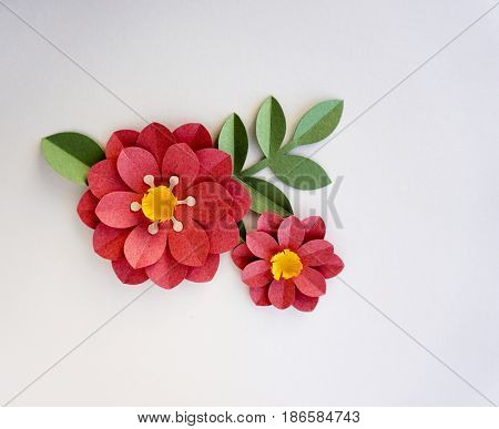 Red Beautiful Flower Graphic Design