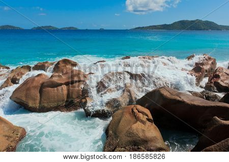 Rocky Beach Magnificent Seychelles