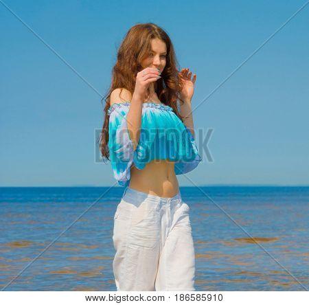 Model Beach Portrait