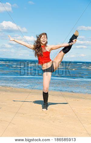 Beach Dancer Background
