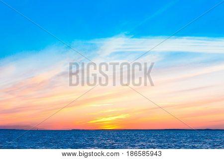 Fiery Backdrop Bright Horizon