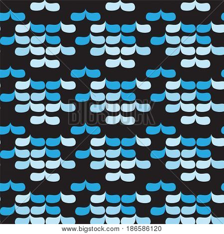 blue shade round rectangle with sharp angle pattern on black background vector illustration image