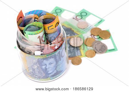 Money - Australian dollar banknotes and coins