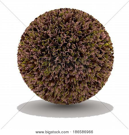 Sphere covered with people of different colors diversity concept overcrowded earth 3D illustration