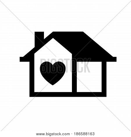 House. Black icon isolated on white background