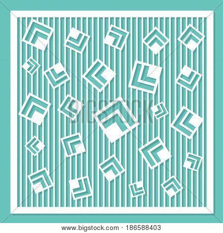 geometric ornament template. card for laser cutting. decorative design element. circular pattern. Vector illustration.