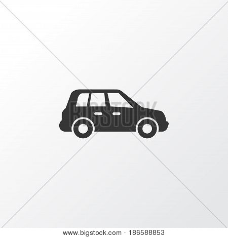 Crossover Icon Symbol. Premium Quality Isolated Car Element In Trendy Style.