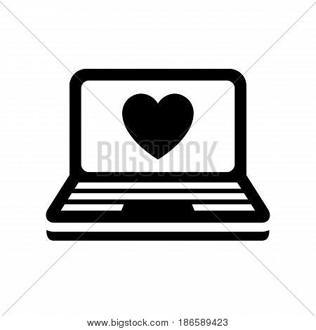 Notebook. Black icon isolated on white background