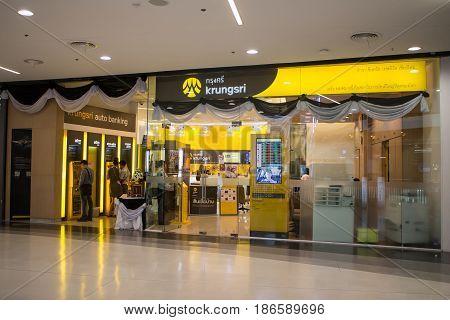 Bank Of Ayudhya Shop Inside Of Central Festival Chiangmai.
