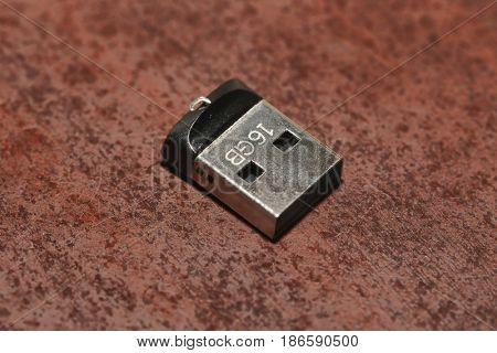 Tiny USB drive ona table