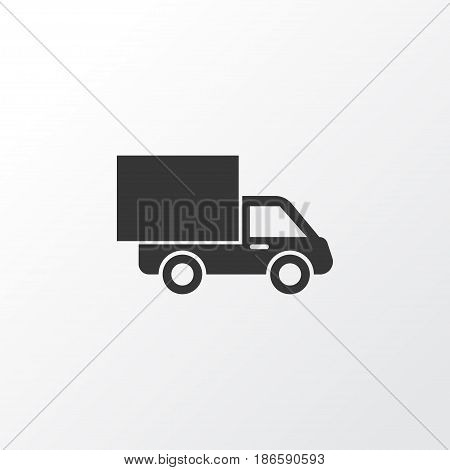 Van Icon Symbol. Premium Quality Isolated Lorry Element In Trendy Style.