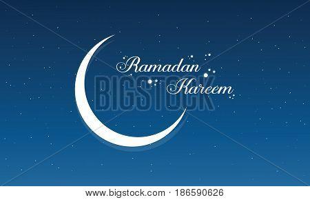Illustration of Ramadan Kareem card style collection stock