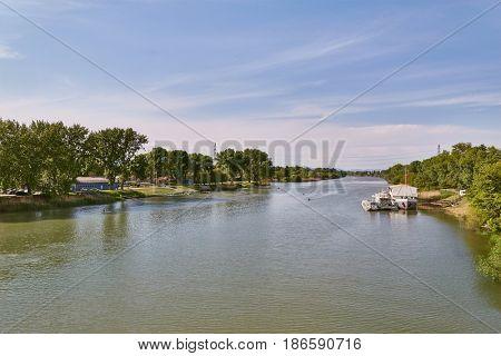 River Danube near Csepel, Hungary
