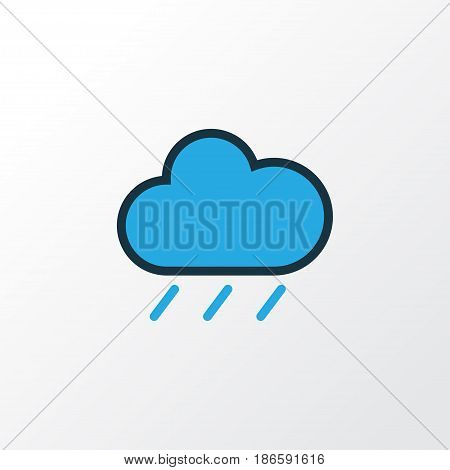 Raindrop Colorful Outline Symbol. Premium Quality Isolated Hail Element In Trendy Style.