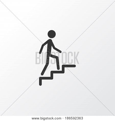 Climbing Stairs Icon Symbol. Premium Quality Isolated Ladder Element In Trendy Style.