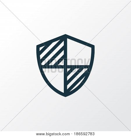 Shield Outline Symbol. Premium Quality Isolated Protect  Element In Trendy Style.