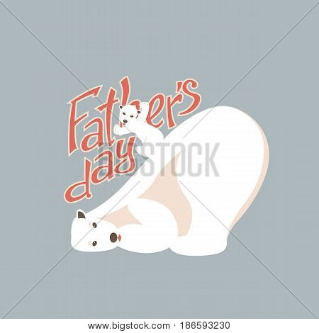 father's day vector illustration greeting card poster