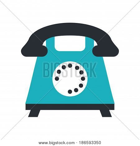 rotary phone icon image vector illustration design