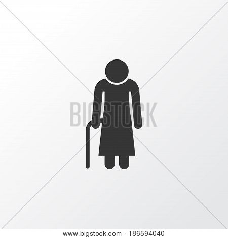 Grandma Icon Symbol. Premium Quality Isolated Old Woman Element In Trendy Style.