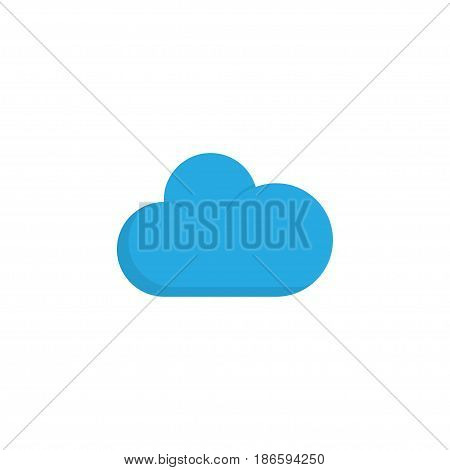 Cloudy Flat Icon Symbol. Premium Quality Isolated Cloud Element In Trendy Style.