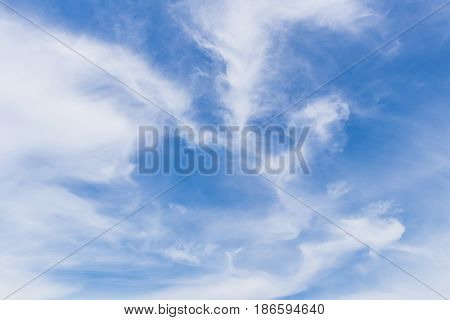 blue sky and white clouds nature background