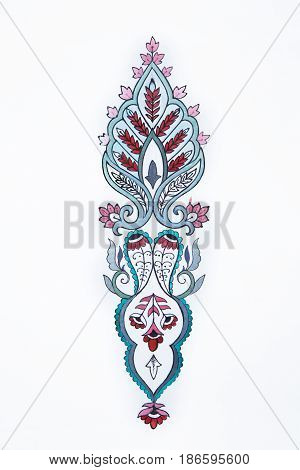 Sketch of a beautiful floral pattern on a white background.