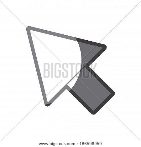 grayscale silhouette of arrowhead icon vector illustration