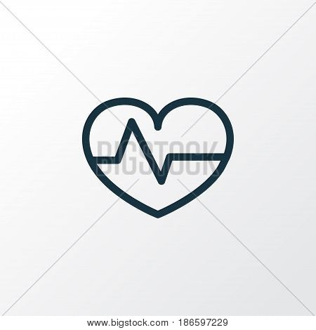 Heartbeat Outline Symbol. Premium Quality Isolated Pulse  Element In Trendy Style.