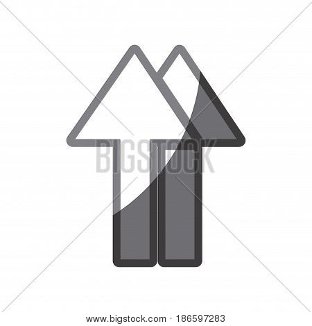 grayscale silhouette of symbol handling package stored right way up vector illustration