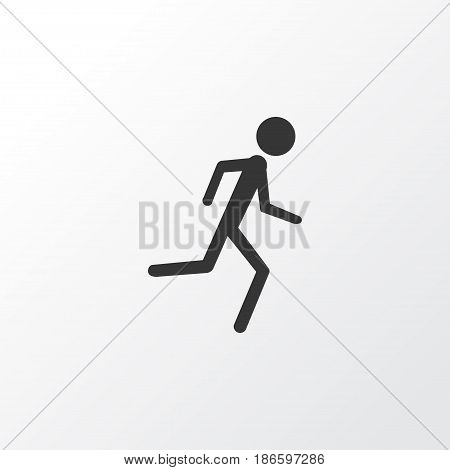 Jogging Icon Symbol. Premium Quality Isolated Running Element In Trendy Style.