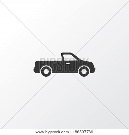 Pickup Icon Symbol. Premium Quality Isolated Carriage Element In Trendy Style.