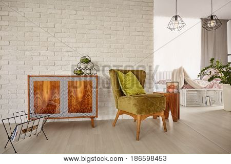 Vintage Commode And Armchair