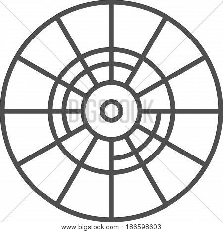 Simple artistic and hobby Vector line artIcon. Color wheel for picking colors. line art style icon. 48x48 Pixel Perfect.