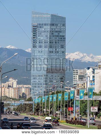 Almaty -  The Ritz-carlton Hotel From Al-farabi Street