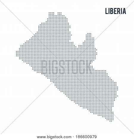 Vector dotted map of Liberia isolated on white background . Travel vector illustration