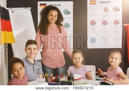 Happy Kids In Language School