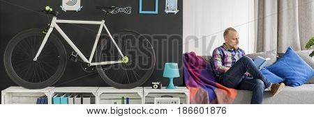 Hipster In His Modern Flat