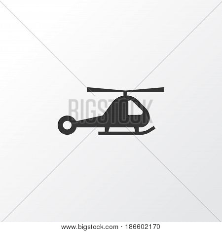 Helicopter Icon Symbol. Premium Quality Isolated Chopper Element In Trendy Style.
