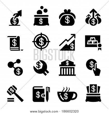 Saving money icon set vector illustration Graphic design