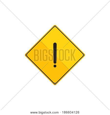 Warning sign vector illustration. Danger flat element for web design and mobile app. Caution high quality flat icon for design printed material. Hazard sign icon on white background.