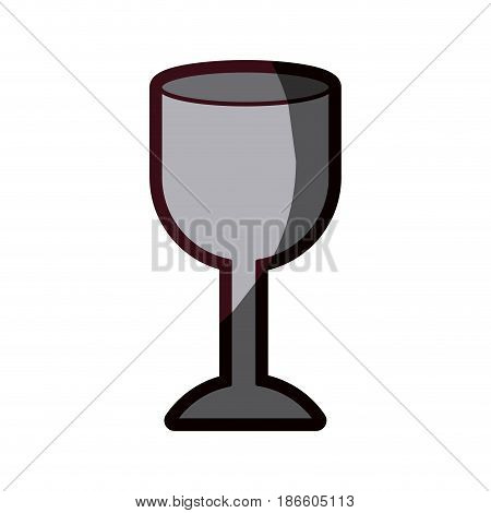 white background with fragile packaging symbol glass and thick contour vector illustration