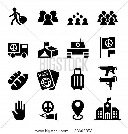 immigration immigrant refugee icon set vector illustration Graphic design