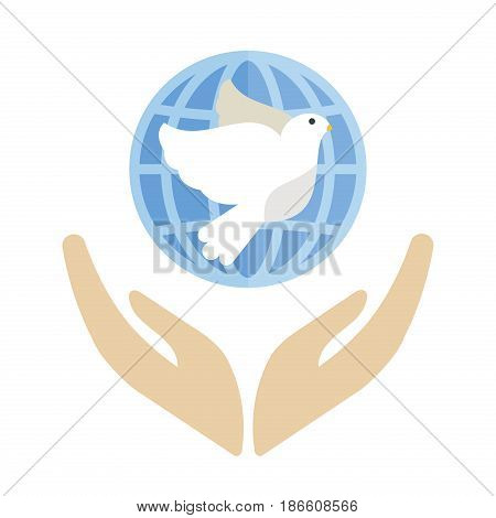 Dove flying bird vector illustration cartoon cute fauna feather flight animal silhouette. Spring freedom natural concept. Wildlife drawing isolated pet peace symbol.