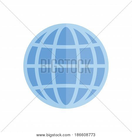 Globe earth geography element icon planet map symbol vector illustration. Education toy icon and graphic sphere. Geography element globe icon tool. Graphic sphere pictogram application.