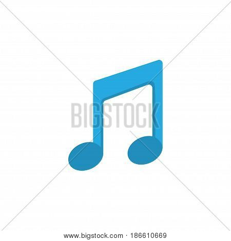 Musical Flat Icon Symbol. Premium Quality Isolated Tone Element In Trendy Style.