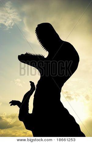 Silhouette of T-Rex. Element of design.