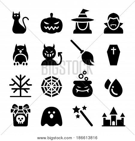 Halloween icon set vector illustration graphic design